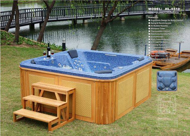 6 Seat Outdoor Spa Bath Jacuzzi Hot Tub 5510 For Sale From