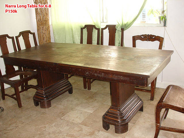 Narra Long Dining Table for 6 8 FOR SALE from Manila  : phfurniture8261 from www.adpost.com size 640 x 480 jpeg 58kB