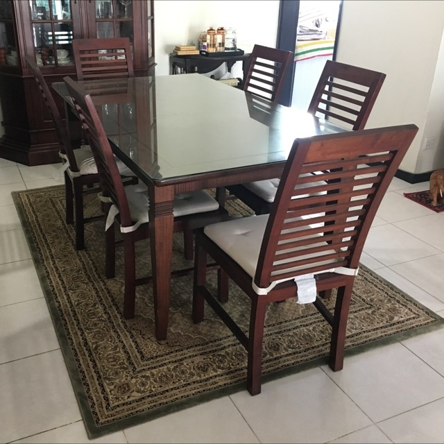 Teak Dining Table 6 teak chairs FOR SALE in Singapore  : sgfurniture406222 from www.adpost.com size 640 x 640 jpeg 84kB