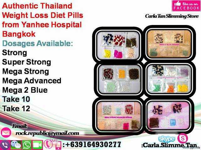 Authentic Thailand Weight Loss Diet Pills from Yanhee Hospital Bangkok ...