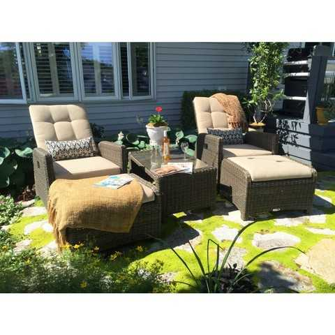 Fall clearance sale on outdoor hdpe wicker furniture up to for Garden furniture 70 off