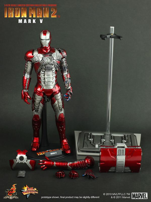 FOR SALE: HOT TOYS 1:6 IRON MAN 2 MMS 145 IRON MAN MARK V FIGURE