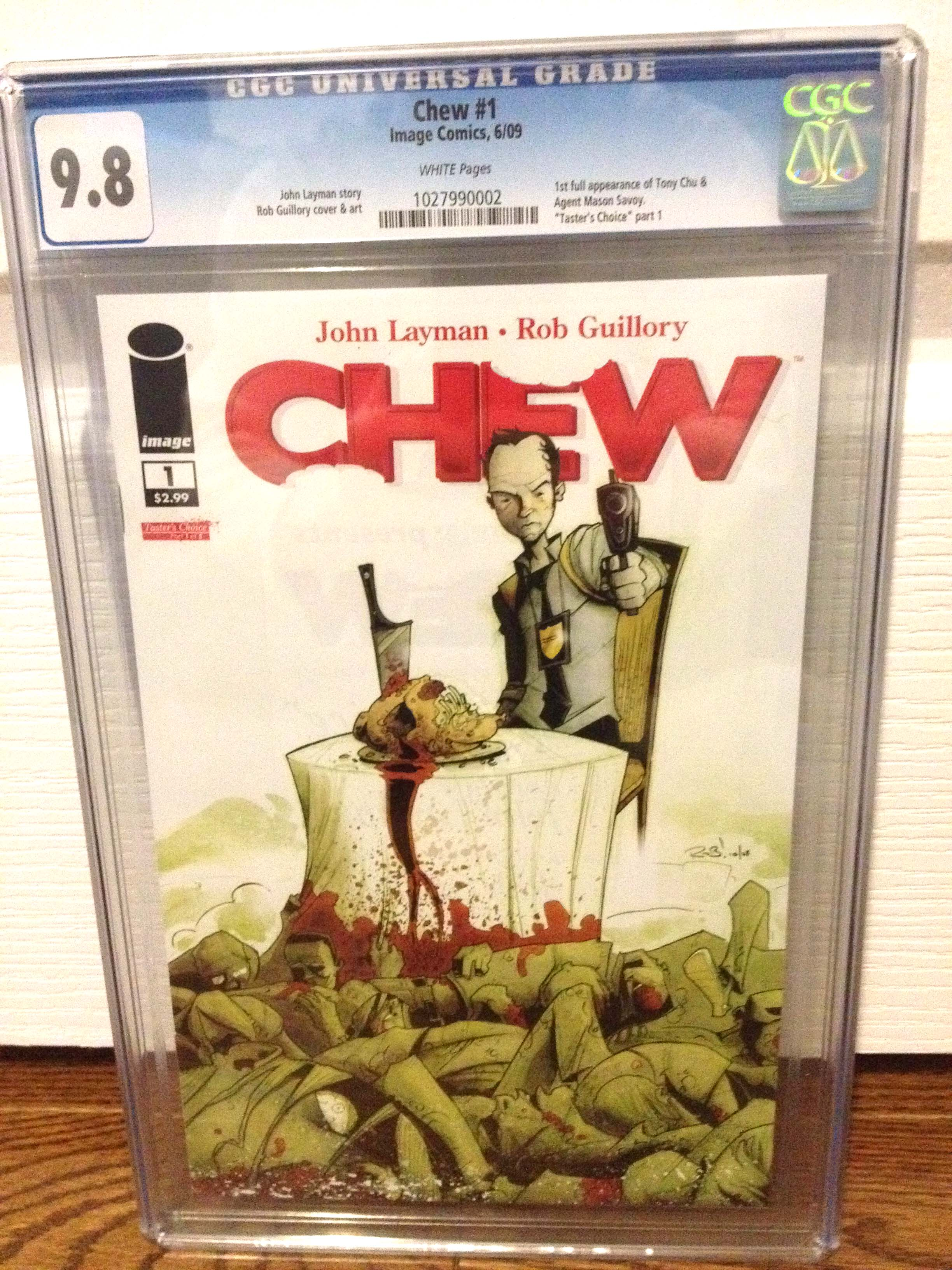 FOR SALE: Chew 1 CGC 9.8 WHITE pages UPCOMING CABLE TV SERIES on SHOWTIME