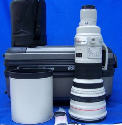 FOR SALE: CANON EF 600mm 14 L IS USM TELEPHOTO LENS EXC + CASE!