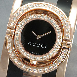 FOR SALE: Ladies Gucci 11/12 Rice Link Bezel Watch  Petite from www.soodmall.com