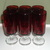 FOR SALE: SET OF 6 ANTIQUE RUBY GLASS BRANDY GLASSES