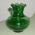 FOR SALE: ANTIQUE RIPPLED EMERALD GLASS VASE