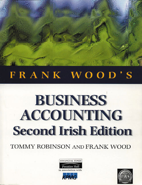 FOR SALE: Business Accounting Second Irish Edition Frank Wood and Tommy Robinson