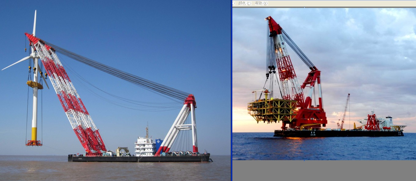 FOR SALE: floating crane for rent charter sell buy crane vessel 100t to 5000t