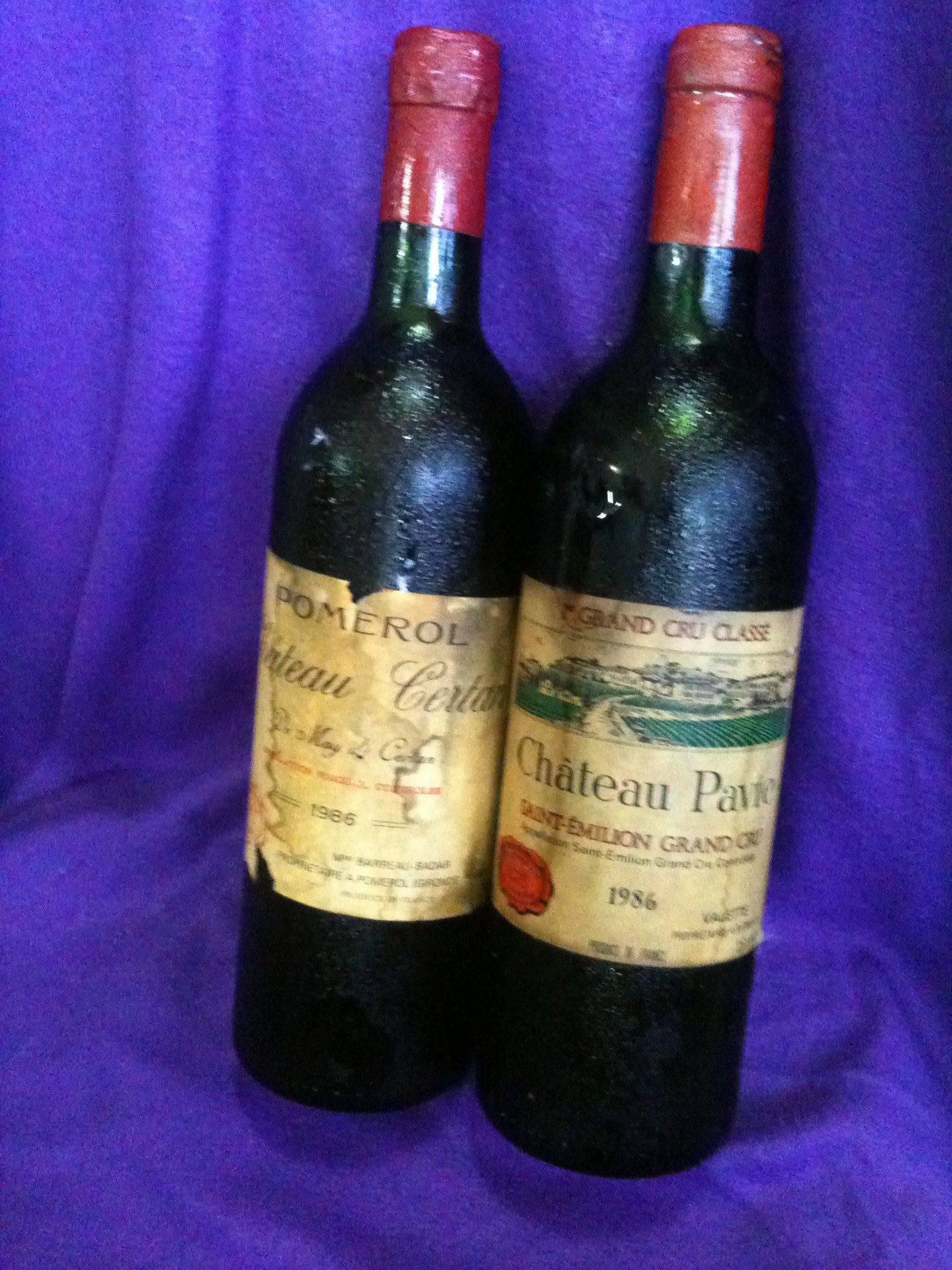 FOR SALE:  few bottles of Vintage wines and a bottle of Champagne for sale