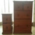 FOR SALE: Solid Wood Chest of Drawers with Matching Bedside Table with Drawers