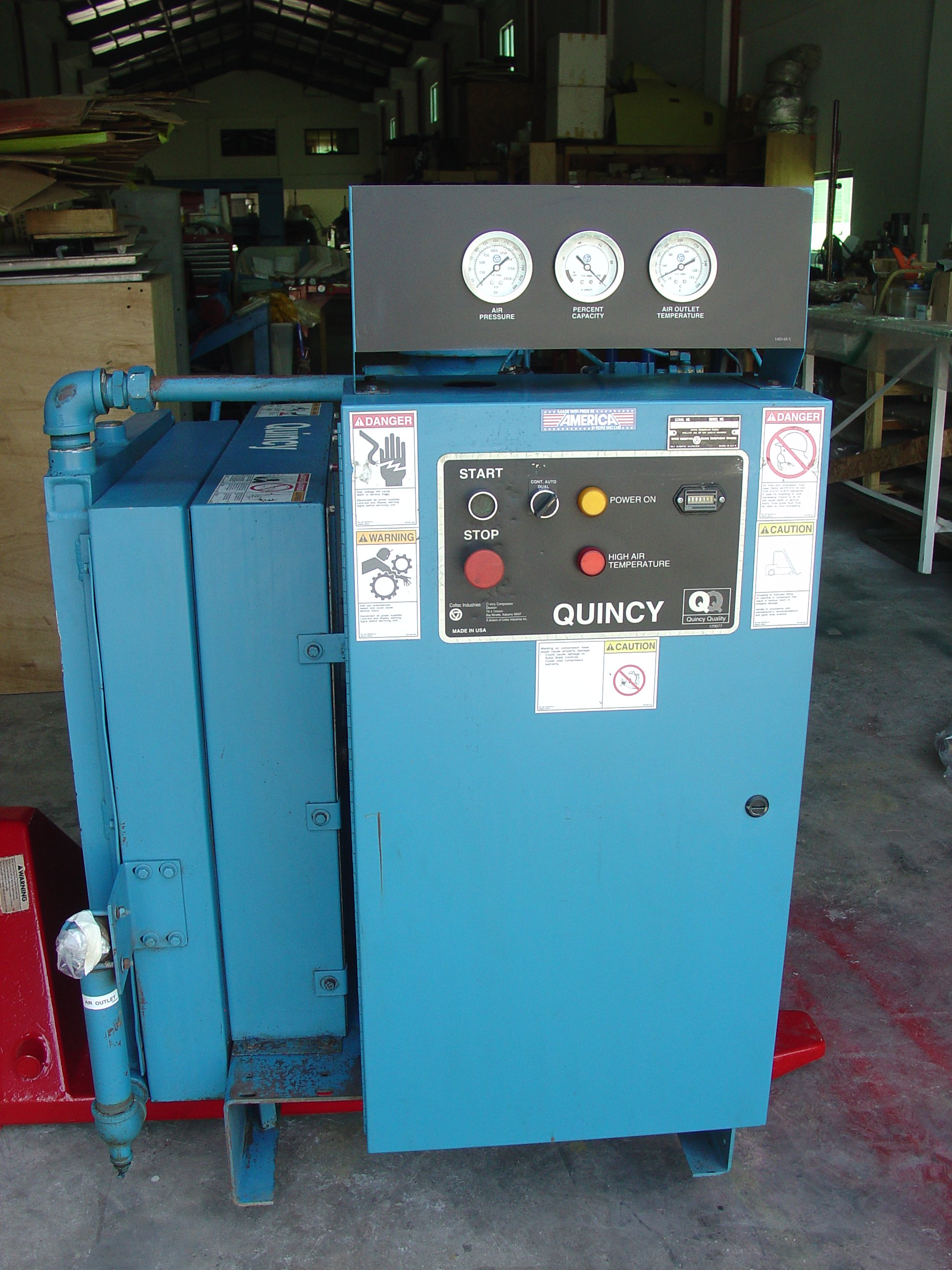 FOR SALE: FOR SALE QUINCY AIR COMPRESSOR WITH AIR COOLING UNIT