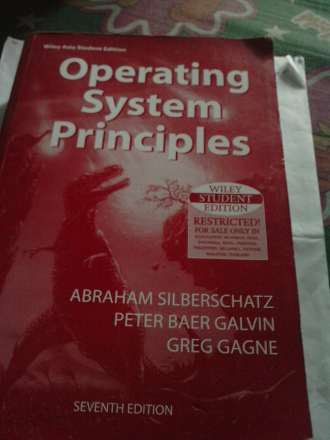 FOR SALE: Operating System Principles 7th Edition (Second Hand)