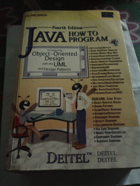 FOR SALE: JAVA How to Program 4th Edition (Second Hand Book)