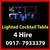 OFFERED: Lighted Cocktail  Table Rental Hire Manila Philippines