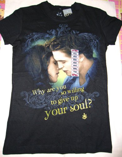 FOR SALE: TWILIGHT NEW MOON YOUR SOUL WOMEN'S T-SHIRT