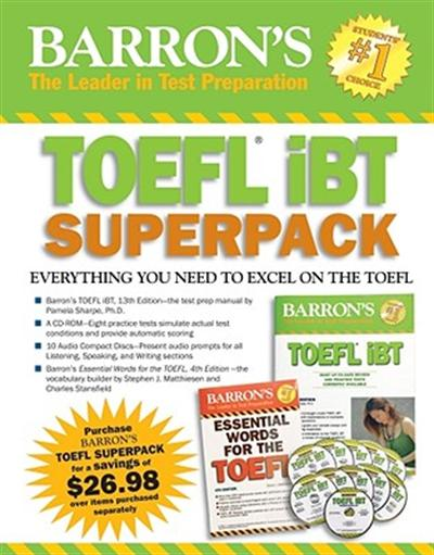 FOR SALE: Barron's TOEFL IBT superpack (with 10 CDROM)
