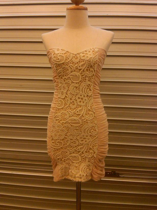 FOR SALE: SEXY LOOK Nude Victorian Laces Embroidery Dress