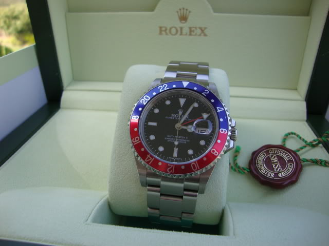 FOR SALE:  FS: Rolex GMT Master II Blue and Red