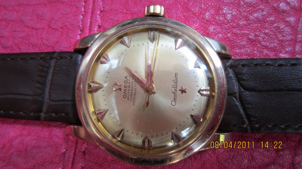 FOR SALE: Omega Constellation Vintage Rose Gold Auto Watch