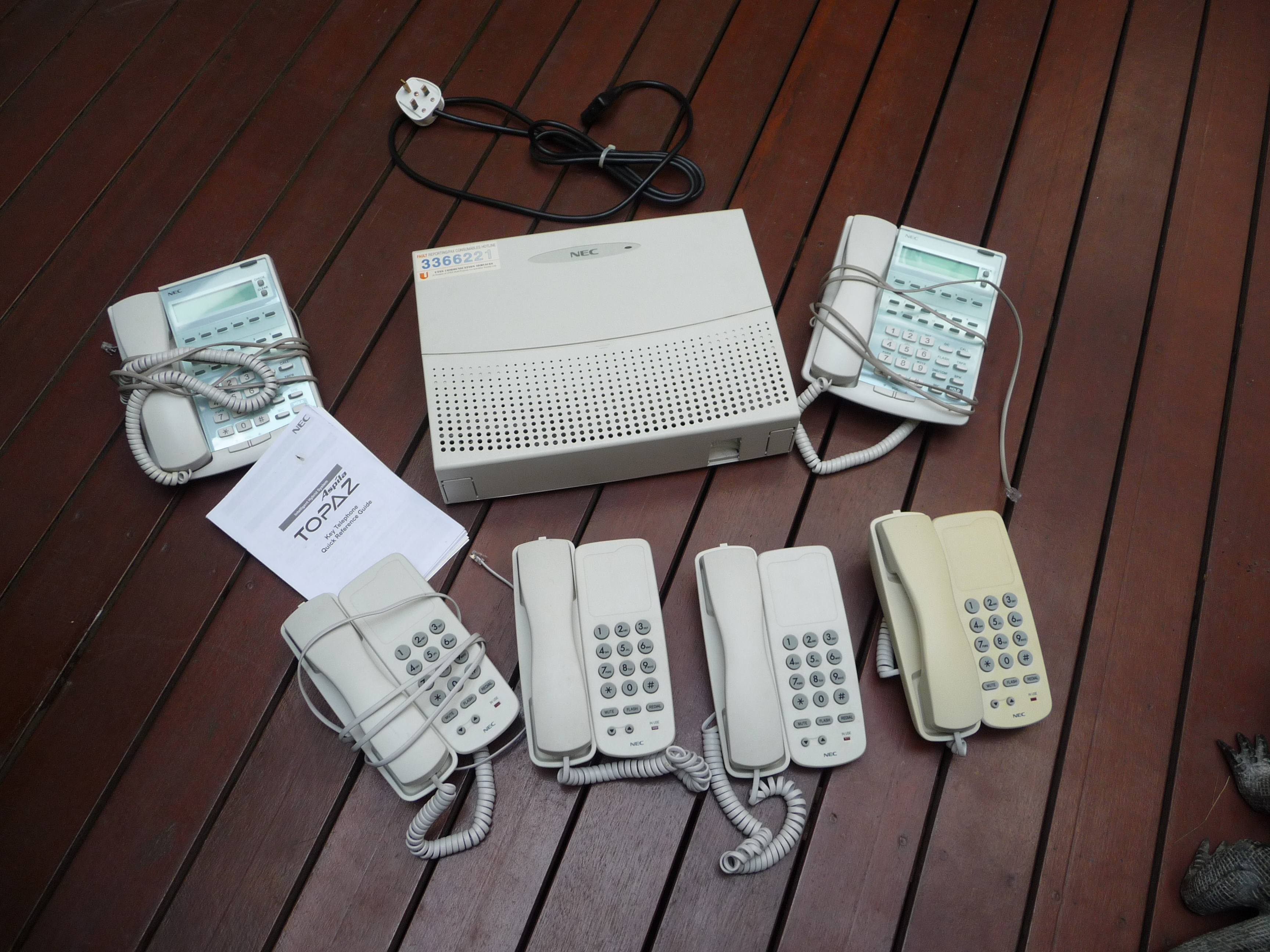 FOR SALE: NEC Topaz Phone System - used one year - very good quality