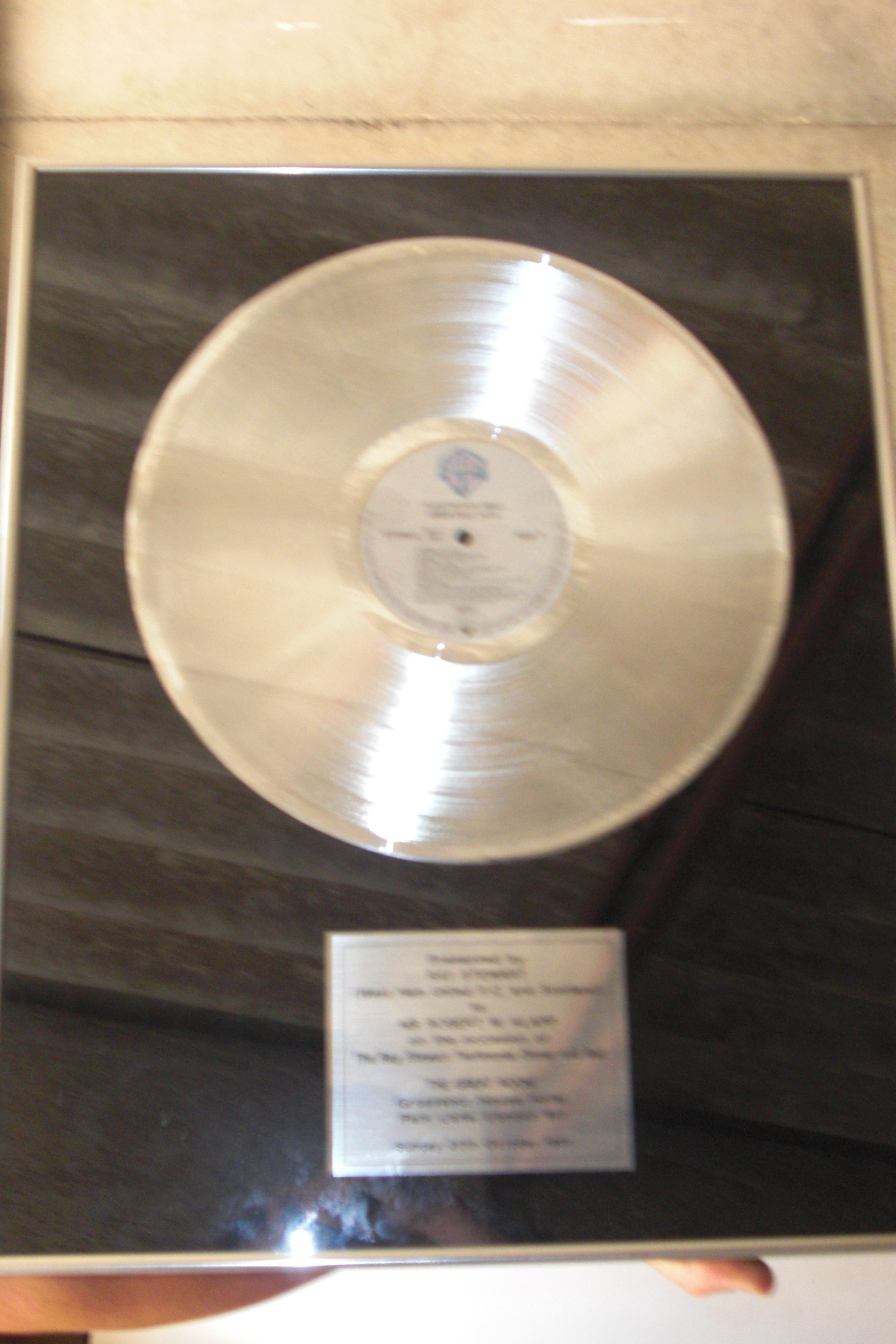 FOR SALE: fleetwood mac greatest hits platinum disc