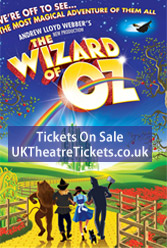 FOR SALE: Cheap Wizard of Oz Tickets to the palladium Theatre, London, UK