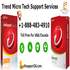 SERVICES: Call at +1-888-483-4910 for Trend Micro Tech Support